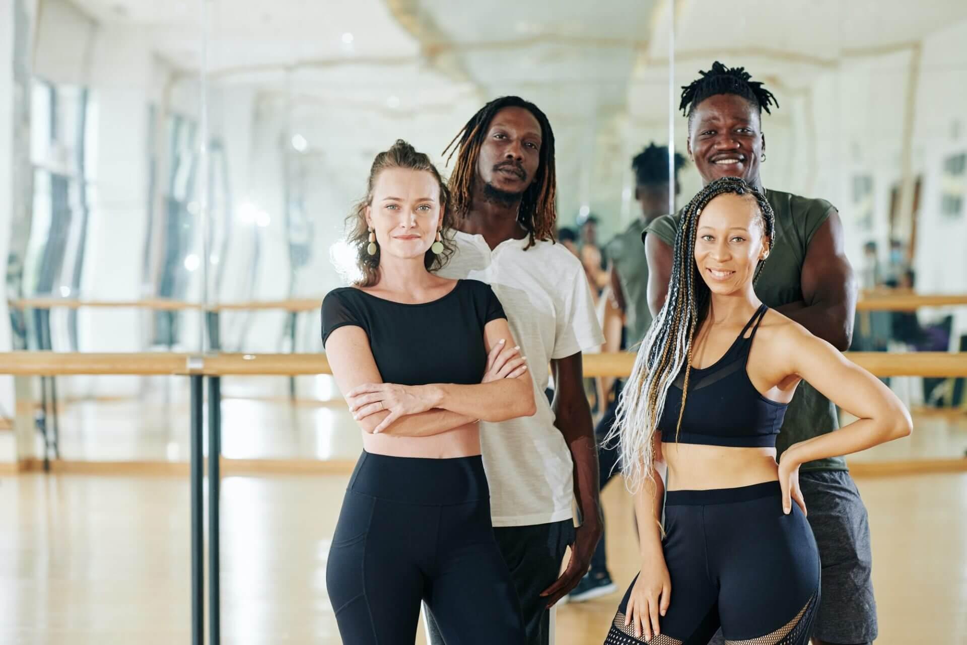 Multi-ethnic group of dancers